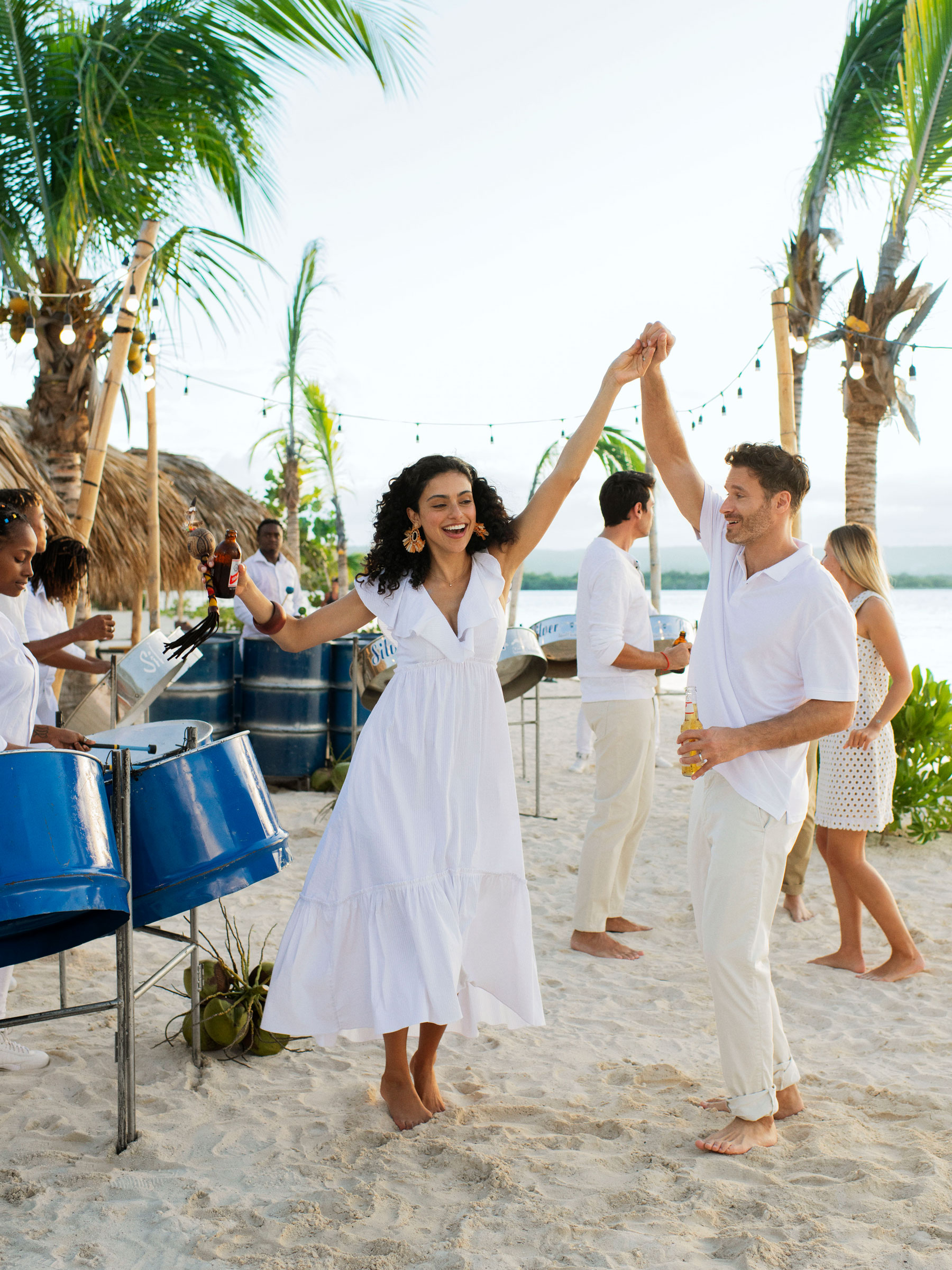Dancing on the Beach in Jamaica