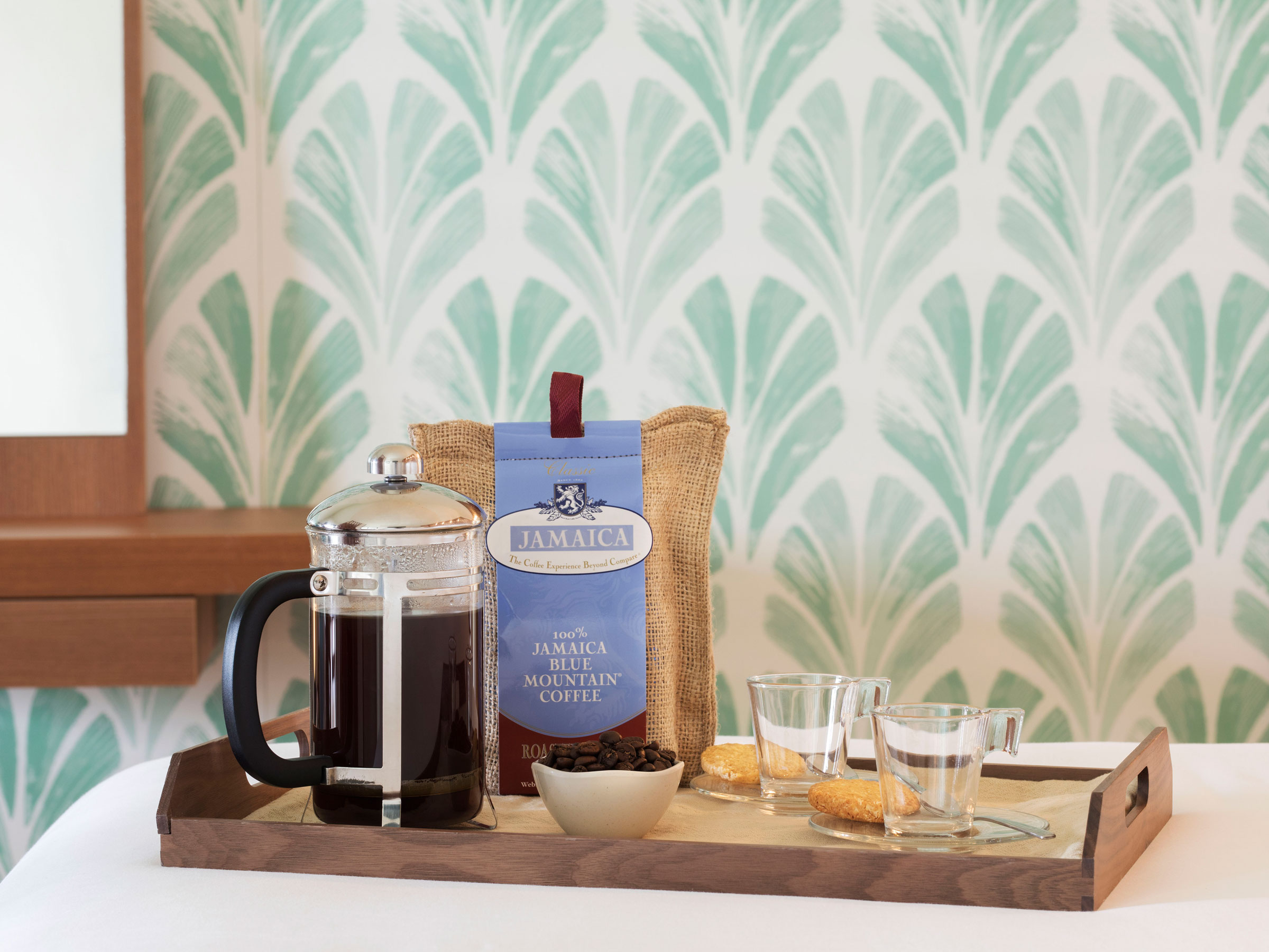 Jamaican Blue Mountain Coffee with French Press